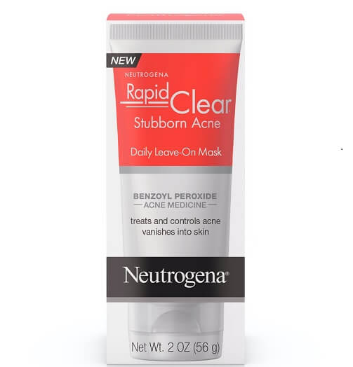 2.5% Benzoyl Peroxide mask  by Neutrogena Rapid Clear - $10