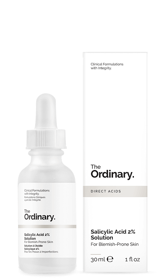 The Ordinary 2% Salicylic for exfoliation cleans the pores and also has anti-inflammatory properties to reduce any future acne