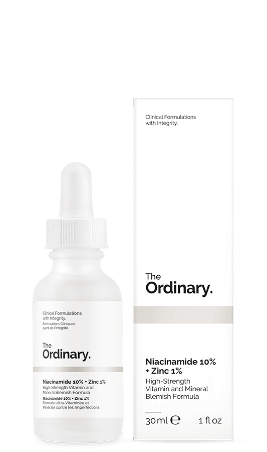 The ordinary Niacinamide 10% zinc 1% for acne scar treatment
