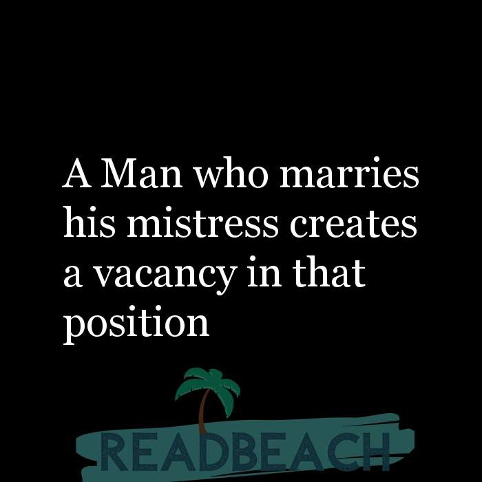 Wife quotes to mistress