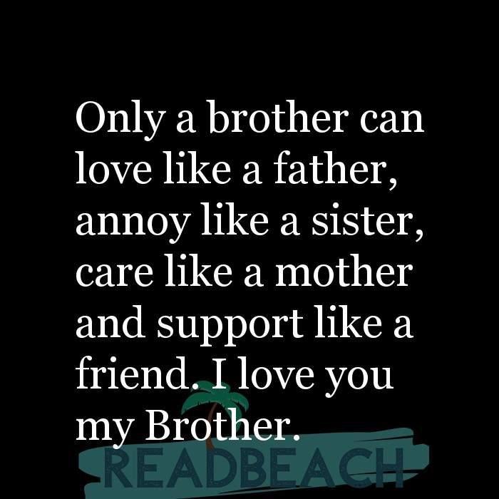 brother needs his sister