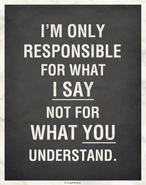 6 Responsibility Quotes with Pictures 📸🖼️ - I'm only responsible for what I say, not for what you understand.