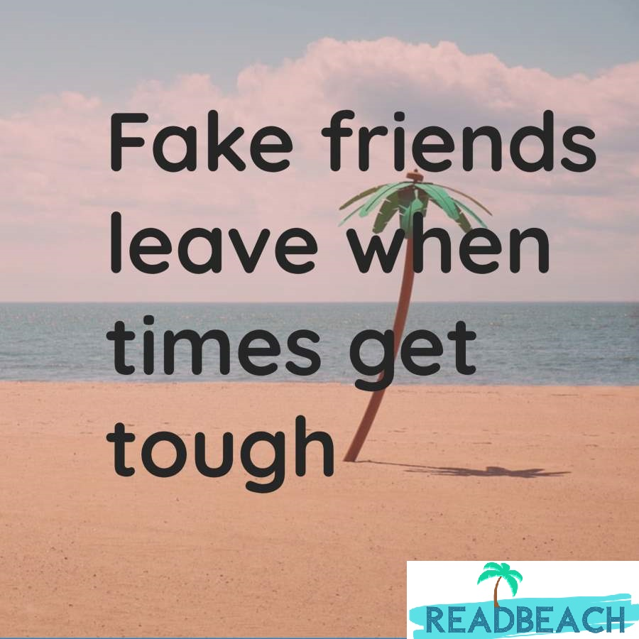 Friendship Quotes - Fake friends leave when times get tough.