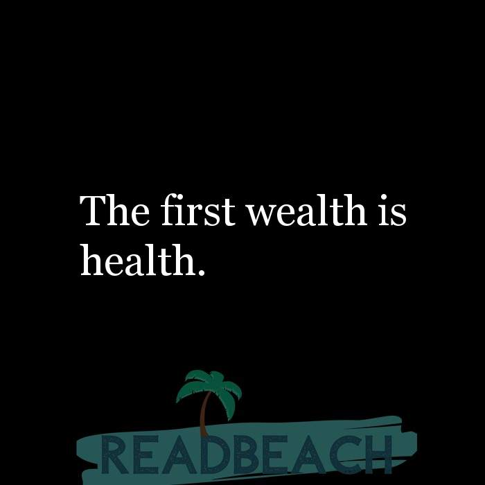 17 Wealth Quotes with Pictures 📸🖼️ - The first wealth is health.