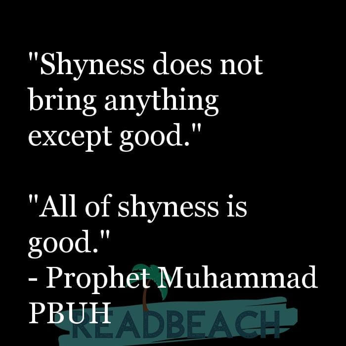 "16 Modesty Quotes with Pictures 📸🖼️ - ""Shyness does not bring anything except good."" ""All of shyness is good."""