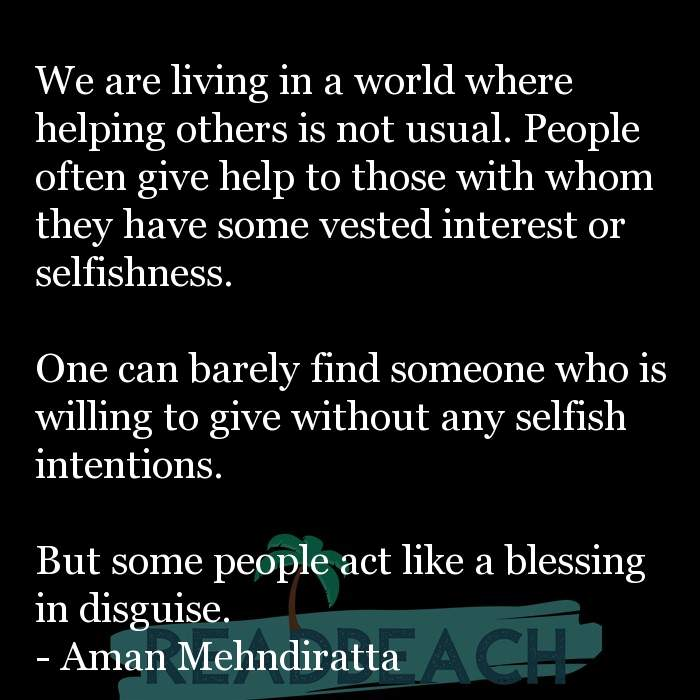 61 English Quotes with Pictures 📸🖼️ - We are living in a world where helping others is not usual. People often give h