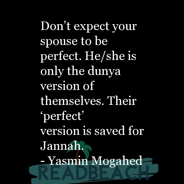 5 Spouse Quotes with Pictures 📸🖼️ - Don't expect your spouse to be perfect. He/she is only the dunya version of the