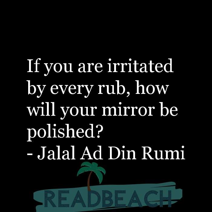 163 Quotes That Make You Think with Pictures 📸🖼️ - If you are irritated by every rub, how will your mirror be polishe