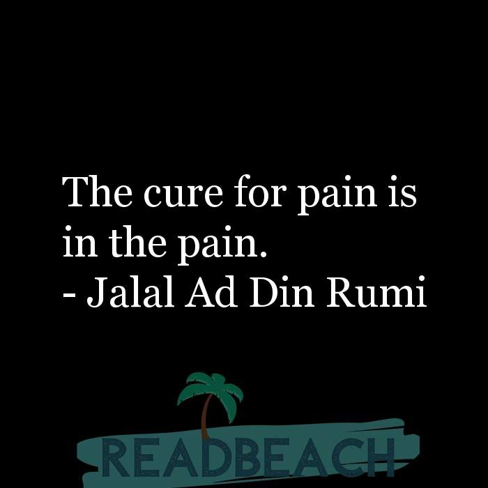 9 Hitting Rock Bottom Quotes with Pictures 📸🖼️ - The cure for pain is in the pain.