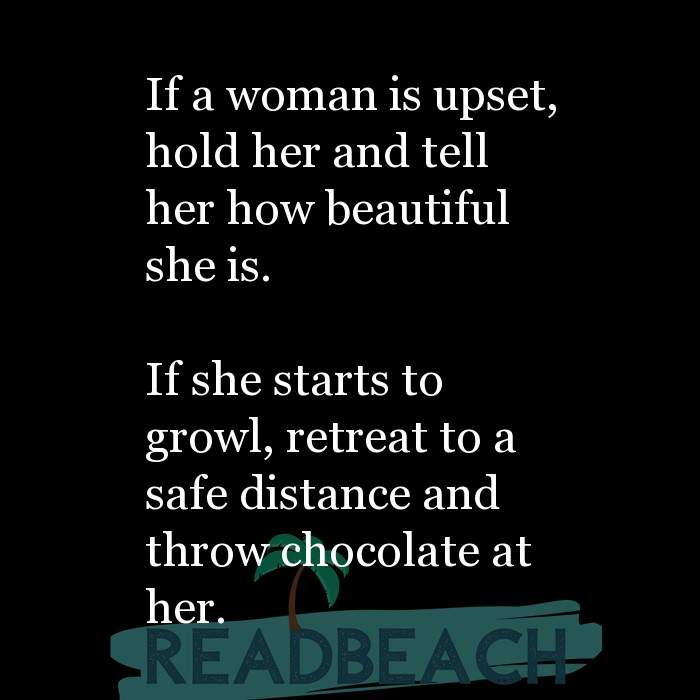 12 Caring Quotes with Pictures 📸🖼️ - If a woman is upset, hold her and tell her how beautiful she is. If she start