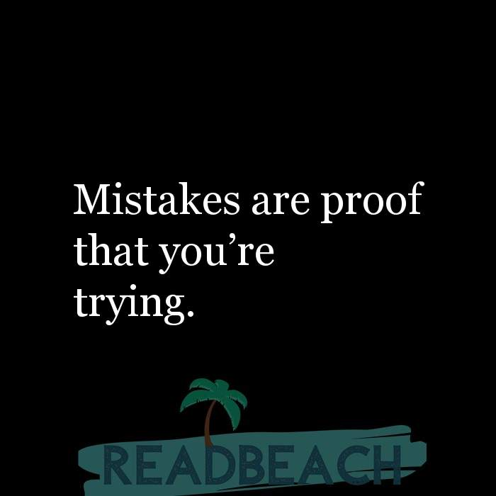 7 Learning Quotes with Pictures 📸🖼️ - Mistakes are proof that you're trying.