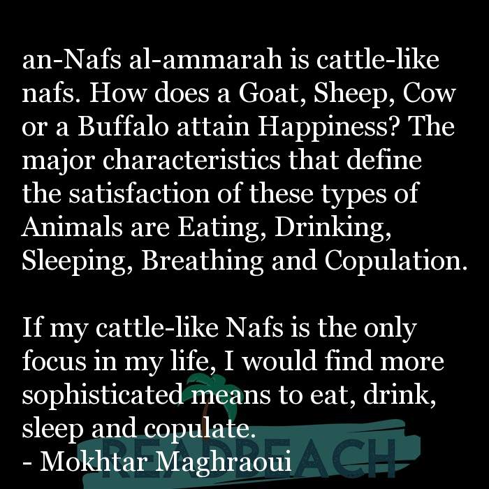 2 Breathing Quotes with Pictures 📸🖼️ - an-Nafs al-ammarah is cattle-like nafs. How does a Goat, Sheep, Cow or a Buffa