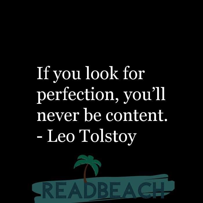 6 Contentment Quotes with Pictures 📸🖼️ - If you look for perfection, you?ll never be content.