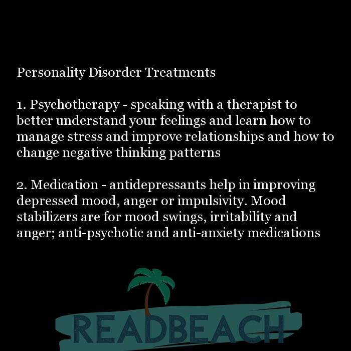 24 Personality Quotes with Pictures 📸🖼️ - Personality Disorder Treatments 1. Psychotherapy - speaking with a thera