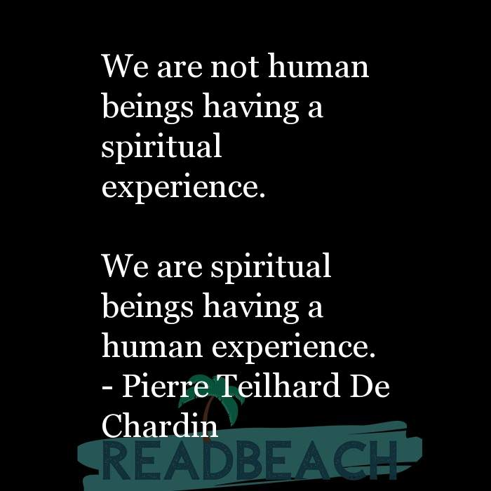 163 Quotes That Make You Think with Pictures 📸🖼️ - We are not human beings having a spiritual experience. We are s